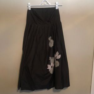 Gap grey strapless party dress